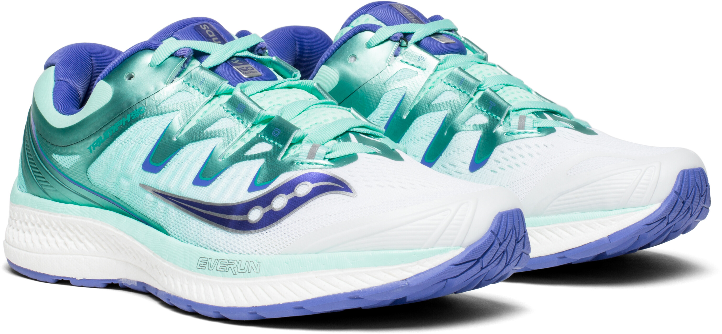 b45cda96387 saucony Triumph ISO 4 - Chaussures running Femme - blanc turquoise ...